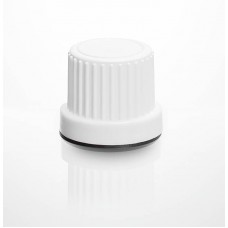 CAP WHITE DIN 2 PIECE HDPE TE WITH PLUG HIGH FLOW